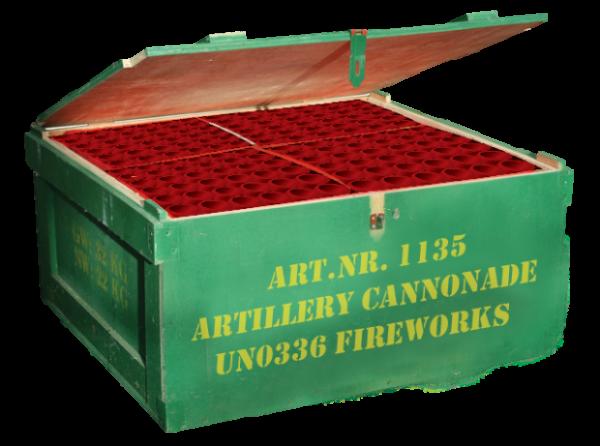 Armee grüne Holzkiste von Vulcan Fireworks