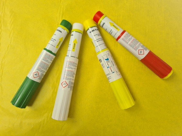 Magnesiumfackel gelb mit Reißzünder