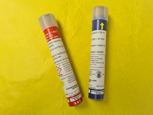 Magnesiumfackel rot mit Reibzündung