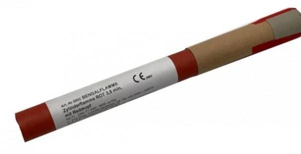 Bengalflammenl rot mit Reibzündung 5 min